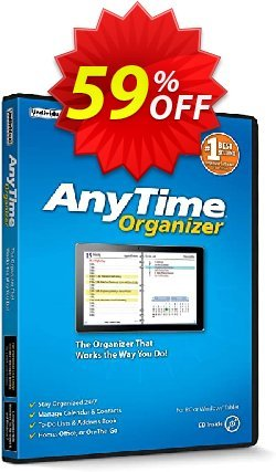 AnyTime Organizer Coupon, discount AnyTime® Organizer Standard 16 Fearsome deals code 2020. Promotion: awful promotions code of AnyTime® Organizer Standard 16 2020