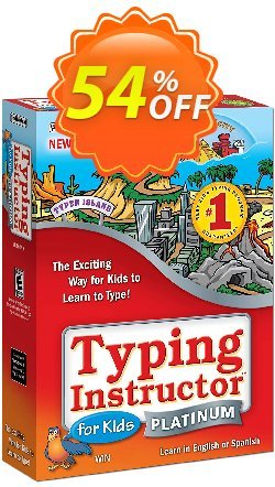 Typing Instructor for Kids Platinum - International Version UK Keyboard Coupon, discount 30% OFF Typing Instructor for Kids Platinum - International Version UK Keyboard, verified. Promotion: Amazing promo code of Typing Instructor for Kids Platinum - International Version UK Keyboard, tested & approved