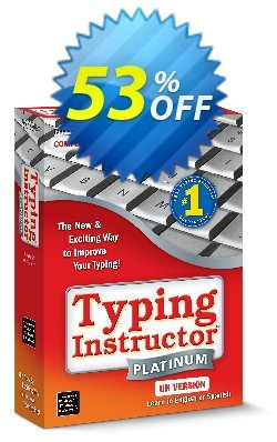 Typing Instructor Platinum - International Version US Keyboard Coupon, discount 30% OFF Typing Instructor Platinum - International Version US Keyboard, verified. Promotion: Amazing promo code of Typing Instructor Platinum - International Version US Keyboard, tested & approved