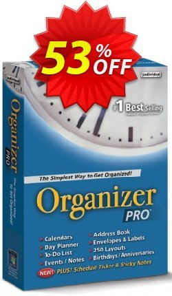 Organizer Pro Coupon, discount 30% OFF Organizer Pro, verified. Promotion: Amazing promo code of Organizer Pro, tested & approved
