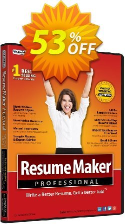 ResumeMaker Professional Deluxe Coupon, discount Holiday 2020!. Promotion: stirring promo code of ResumeMaker Professional Deluxe 2020