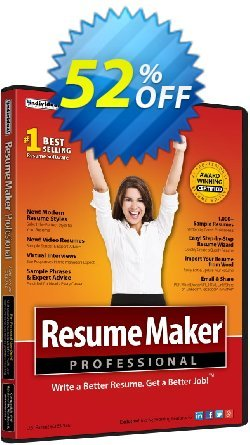 ResumeMaker Ultimate Coupon, discount ResumeMaker Ultimate best deals code 2020. Promotion: best deals code of ResumeMaker Ultimate 2020