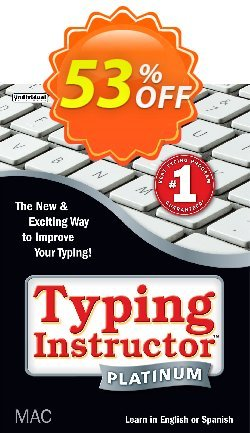 Typing Instructor Platinum for Mac Coupon, discount Black Friday & Cyber Monday Are Here!. Promotion: stunning offer code of Typing Instructor Platinum - Mac 2020