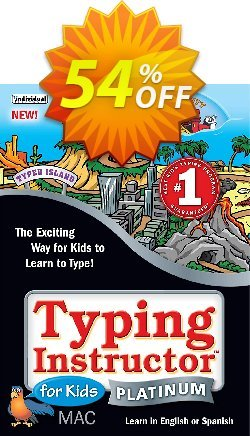 Typing Instructor for Kids Platinum - Mac  Coupon, discount Black Friday & Cyber Monday Are Here!. Promotion: hottest discount code of Typing Instructor for Kids Platinum - Mac 2020