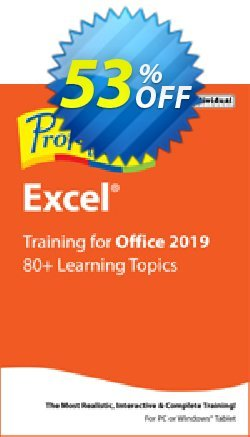 Professor Teaches Excel 2019 Coupon, discount Professor Teaches Excel 2013 wondrous discount code 2020. Promotion: wondrous discount code of Professor Teaches Excel 2013 2020