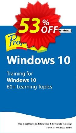 Professor Teaches Windows 10 Coupon, discount 30% OFF Professor Teaches Windows 10, verified. Promotion: Amazing promo code of Professor Teaches Windows 10, tested & approved