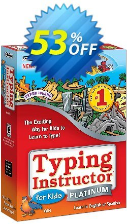 Typing Instructor for Kids Platinum Upgrade Coupon, discount 40% OFF Typing Instructor for Kids Platinum Upgrade, verified. Promotion: Amazing promo code of Typing Instructor for Kids Platinum Upgrade, tested & approved