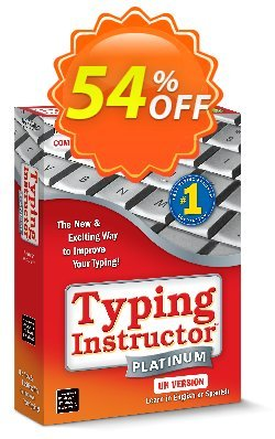 Typing Instructor Platinum 21 Upgrade Coupon, discount 40% OFF Typing Instructor Platinum 21 Upgrade, verified. Promotion: Amazing promo code of Typing Instructor Platinum 21 Upgrade, tested & approved