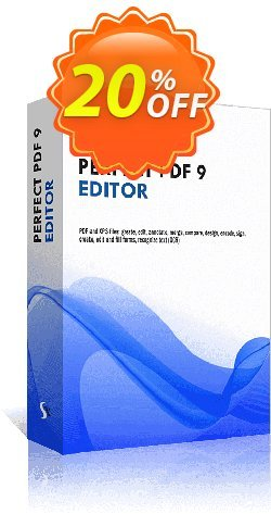 Perfect PDF 9 Editor Coupon discount Affiliate Promotion - staggering sales code of Perfect PDF 9 Editor 2020