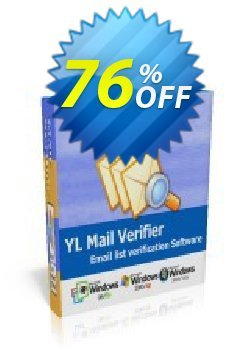 YL Mail Verifier - Personal License Coupon, discount YL Mail Verifier - Personal License big sales code 2019. Promotion: big sales code of YL Mail Verifier - Personal License 2019