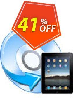 iFunia DVD to iPad Converter Coupon, discount iFunia DVD to iPad Converter awful promotions code 2020. Promotion: awful promotions code of iFunia DVD to iPad Converter 2020