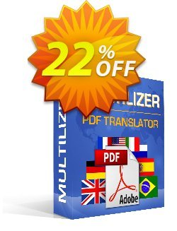 Multilizer PDF Translator Standard Coupon discount Multilizer PDF Translator Standard staggering discount code 2021 - staggering discount code of Multilizer PDF Translator Standard 2021