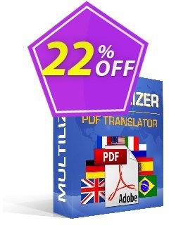Multilizer PDF Translator Standard Coupon discount Multilizer PDF Translator Standard staggering discount code 2021. Promotion: staggering discount code of Multilizer PDF Translator Standard 2021
