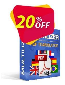 Traduttore PDF Multilizer Standard Coupon, discount Traduttore PDF Multilizer Standard amazing discount code 2020. Promotion: amazing discount code of Traduttore PDF Multilizer Standard 2020