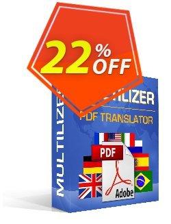 Multilizer PDF-översättare Standard Coupon, discount Multilizer PDF-översättare Standard exclusive offer code 2020. Promotion: exclusive offer code of Multilizer PDF-översättare Standard 2020