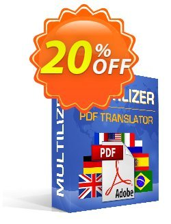Multilizer PDF Translator Standard - Türkçe  Coupon discount Multilizer PDF Translator Standard (Türkçe) wonderful promo code 2021 - wonderful promo code of Multilizer PDF Translator Standard (Türkçe) 2021