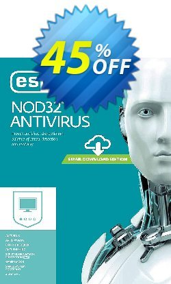 NOD32 Antivirus - Nouvelle licence 3 ans pour 1 ordinateur Coupon, discount NOD32 Antivirus - Nouvelle licence 3 ans pour 1 ordinateur best sales code 2020. Promotion: best sales code of NOD32 Antivirus - Nouvelle licence 3 ans pour 1 ordinateur 2020