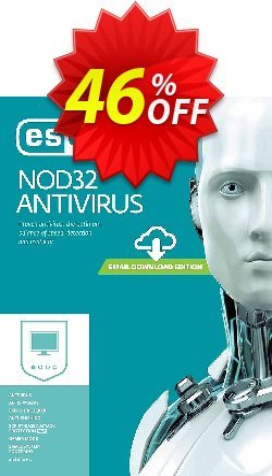 NOD32 Antivirus - Réabonnement 1 an pour 3 ordinateurs Coupon, discount NOD32 Antivirus - Réabonnement 1 an pour 3 ordinateurs super discounts code 2019. Promotion: super discounts code of NOD32 Antivirus - Réabonnement 1 an pour 3 ordinateurs 2019