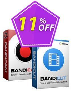 Bandicam + Bandicut Package Coupon, discount Bandicam + Bandicut Package Excellent deals code 2021. Promotion: Excellent deals code of Bandicam + Bandicut Package 2021