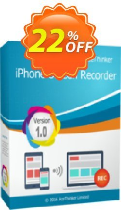 Acethinker iPhone Screen Recorder lifetime - Academic  Coupon, discount iPhone Screen Recorder (Academic - lifetime) amazing offer code 2019. Promotion: amazing offer code of iPhone Screen Recorder (Academic - lifetime) 2019