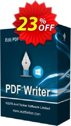 Acethinker PDF Writer Coupon, discount PDF Writer (Personal - 1 year) excellent promo code 2019. Promotion: excellent promo code of PDF Writer (Personal - 1 year) 2019