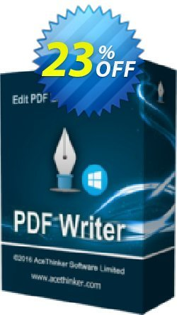 Acethinker PDF Writer - Academic  Coupon, discount PDF Writer (Academic - 1 year) wondrous promotions code 2019. Promotion: wondrous promotions code of PDF Writer (Academic - 1 year) 2019