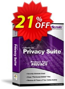 Cyberscrub Privacy Suite Coupon, discount Cyberscrub Privacy Suite 5.1 with 1 Yr Subscription imposing deals code 2021. Promotion: imposing deals code of Cyberscrub Privacy Suite 5.1 with 1 Yr Subscription 2021
