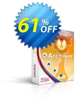 Exeone Archiver Coupon, discount Archiver Single License hottest deals code 2021. Promotion: hottest deals code of Archiver Single License 2021