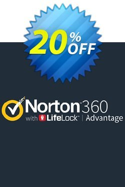 Norton 360 with LifeLock Advantage Coupon, discount 20% OFF Norton 360 with LifeLock Advantage, verified. Promotion: Formidable deals code of Norton 360 with LifeLock Advantage, tested & approved