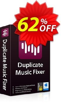 Duplicate Music Fixer Coupon, discount 50% OFF Duplicate Music Fixer, verified. Promotion: Fearsome offer code of Duplicate Music Fixer, tested & approved