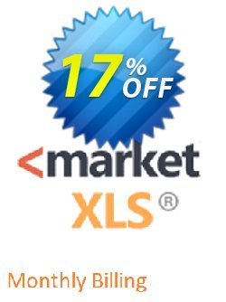 MarketXLS Monthly Billing Coupon discount 15% OFF MarketXLS Monthly Billing, verified - Super discount code of MarketXLS Monthly Billing, tested & approved