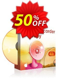DVDFab 4K Recorder Copy for MAC Coupon discount 50% OFF DVDFab 4K Recorder Copy for MAC, verified. Promotion: Special sales code of DVDFab 4K Recorder Copy for MAC, tested & approved