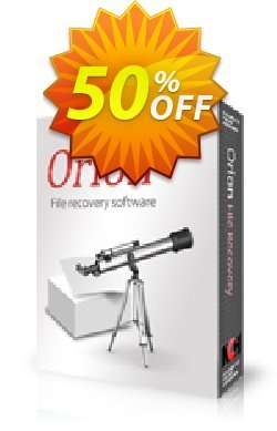 Orion File Recovery Software Coupon discount 50% OFF Orion File Recovery Software, verified. Promotion: Super offer code of Orion File Recovery Software, tested & approved