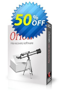 Orion File Recovery Software Coupon discount 50% OFF Orion File Recovery Software, verified - Super offer code of Orion File Recovery Software, tested & approved