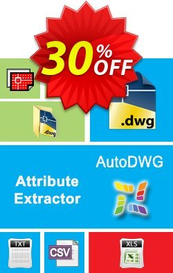 AutoDWG Attribute Extractor Coupon, discount 25% AutoDWG (12005). Promotion: 10% Discount from AutoDWG (12005)