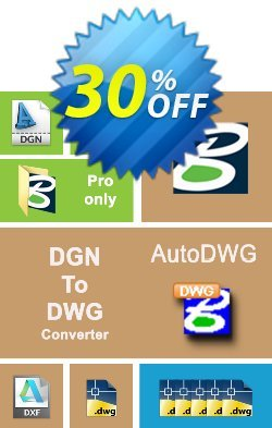 AutoDWG DGN to DWG Converter Coupon, discount 25% AutoDWG (12005). Promotion: 10% Discount from AutoDWG (12005)
