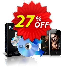 MacX iPhone DVD Ripper Coupon, discount MacX iPhone DVD Ripper stirring offer code 2021. Promotion: stirring offer code of MacX iPhone DVD Ripper 2021