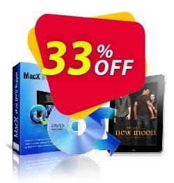 MacX iPad DVD Ripper Coupon, discount MacX iPad DVD Ripper impressive discount code 2021. Promotion: impressive discount code of MacX iPad DVD Ripper 2021