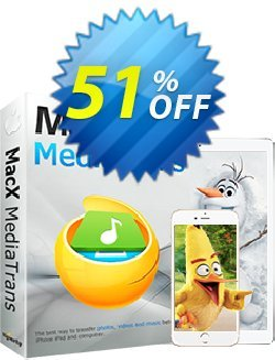 MacX MediaTrans (Lifetime) Coupon, discount MediaTrans discount code. Promotion: MediaTrans discount coupon unlimited coupon (lifetime license): MXMT