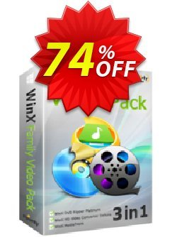 WinX Family Video Pack - for 6 PCs  Coupon, discount WinX Family Video Pack (for 6 PCs) amazing discounts code 2021. Promotion: amazing discounts code of WinX Family Video Pack (for 6 PCs) 2021