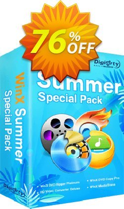 WinX Summer Special Pack Coupon, discount 75% OFF WinX Anniversary Special Pack, verified. Promotion: Exclusive promo code of WinX Anniversary Special Pack, tested & approved