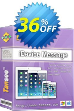 Tansee iOS Message Transfer for Mac Coupon discount Tansee discount codes 13181. Promotion: 13181-3