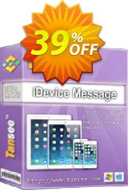 Tansee iOS Message Transfer - 1 year  Coupon, discount Tansee discount codes 13181. Promotion: Tansee discount coupon (13181)