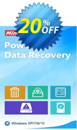 MiniTool Power Data Recovery Coupon discount 20% off. Promotion: reseller 20% off