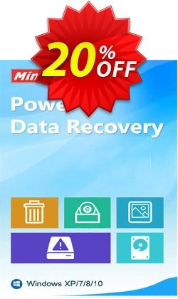 MiniTool Power Data Recovery Technician License Coupon, discount 20% off. Promotion: 25% off of any product