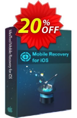 MiniTool Mobile Recovery for iOS - 1-Year  Coupon, discount 20% off. Promotion: