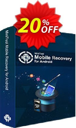 MiniTool Android Recovery Standard Coupon, discount 20% off. Promotion: