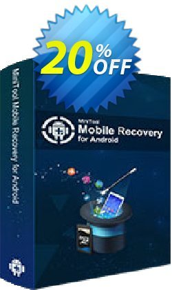 MiniTool Mobile Recovery for Android Lifetime Coupon discount 20% off. Promotion: