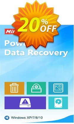 MiniTool Power Data Recovery - Business Standard Coupon, discount 20% off. Promotion: