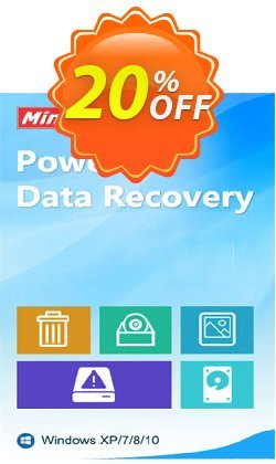 MiniTool Power Data Recovery - Business Deluxe Coupon, discount 20% off. Promotion: